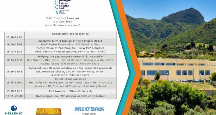 Ανακοίνωση Αποτελεσμάτων 1ου κύκλου – Επιστημονικό Πάρκο Πατρών