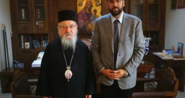 Ο Ν. Φαρμάκης επισκέφθηκε τον Μητροπολίτη Αιτωλίας & Ακαρνανίας κ.κ. Κοσμά