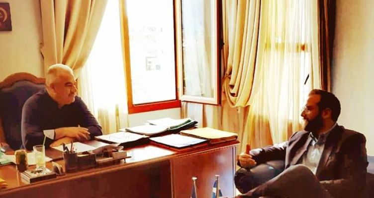 Συνάντηση του Νεκτάριου Φαρμάκη με τον Δήμαρχο Ξηρομέρου Ε. Γαλούνη