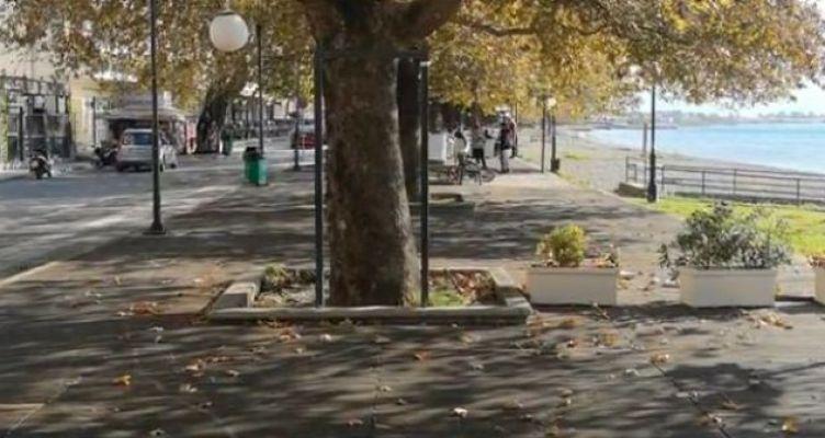 Ναύπακτος: Επικίνδυνα τα ξύλινα πεζοδρόμια στο Γρίμποβο (Βίντεο)