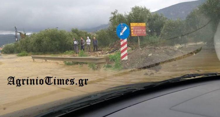 Σοβαρά προβλήματα σε Κεφαλόβρυσο και Αιτωλικό από τις βροχοπτώσεις