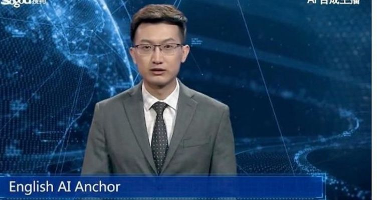 Tο 1o ρομπότ-παρουσιαστής ειδήσεων έκανε την παρθενική του εμφάνιση (Βίντεο)