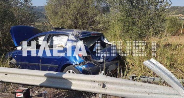 Ηλεία: Η μπάρα «σούβλισε» το αυτοκίνητο σε φοβερό τροχαίο – Σώθηκε η οδηγός (Φωτό)