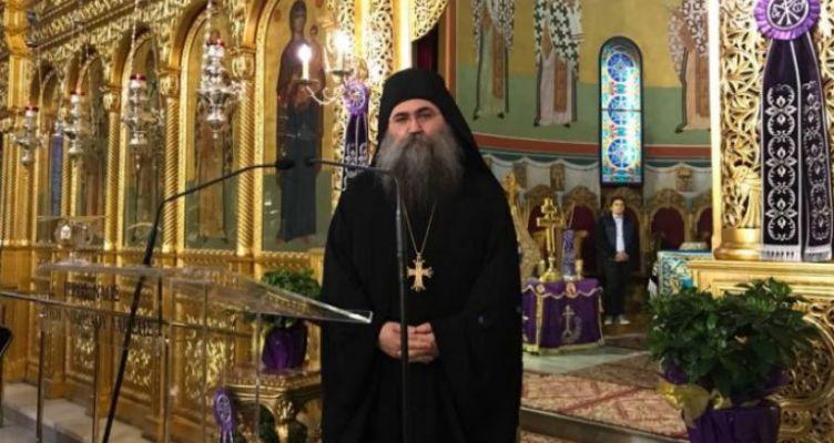 Ο Καθηγούμενος της Ι. Μονής Εσφιγμένου στον Άγιο Νικόλαο Αντιρρίου