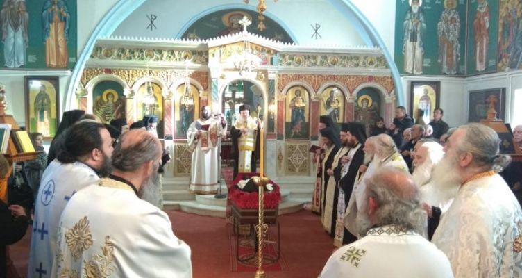 Εξόδιος ακολουθία καθηγουμένου Ι. Μονής Παναγίας Ελεούσης  Αρχιμανδρίτου  Ιεροθέου Σπανομήτσου