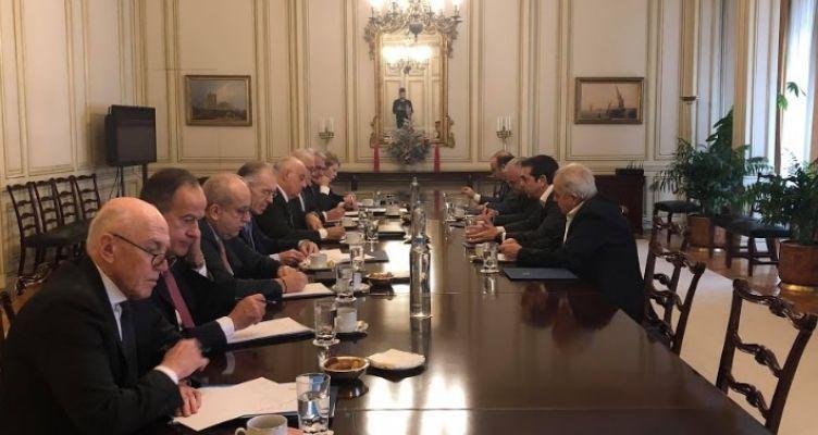 Συνάντηση του Αλέξη Τσίπρα με το Προεδρείο της Ελληνικής Ένωσης Τραπεζών