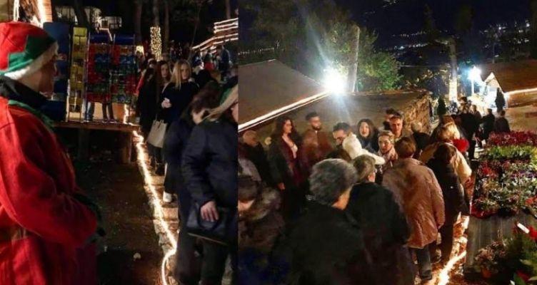 Ψυχαγωγικό Πάρκο Φρόντζου: Κοσμοπλημμύρα στο Χωριό του Αϊ Βασίλη…