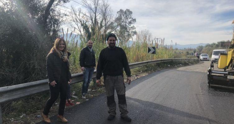 Συνεχίζονται οι εργασίες αποκατάστασης σε οδικά τμήματα της Τριχωνίδας