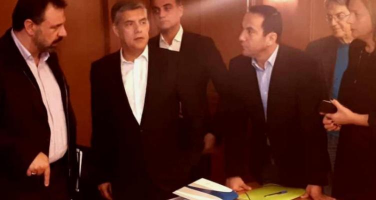 Στη συνάντηση της ΕΝΠΕ με τον Σταύρο Αραχωβίτη ο Κωνσταντίνος Μητρόπουλος