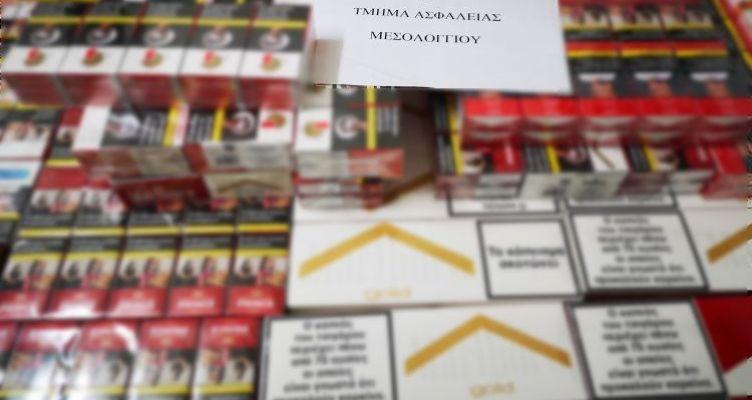 Μεσολόγγι: Συνελήφθη 36χρονος για μεγάλη ποσότητα λαθραίων τσιγάρων και καπνού (Φωτό)