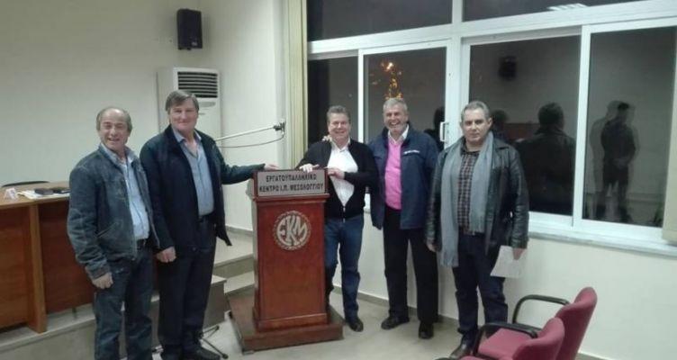 Η επίσκεψη του Υφ. Εργασίας, Αναστάσιου Πετρόπουλου στο Μεσολόγγι