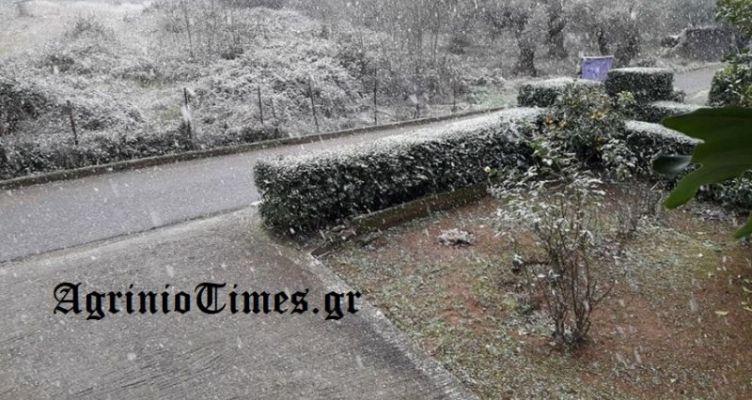 Σαν σήμερα το 2017 χιόνισε στο Αγρίνιο! (Βίντεο-Φωτό)