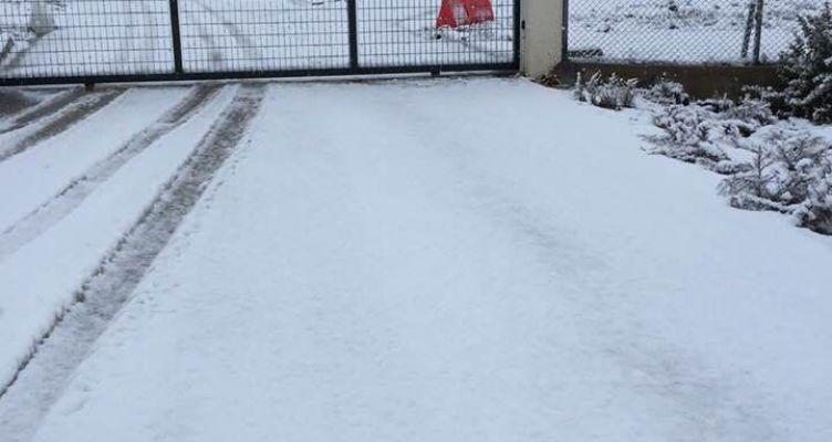 Αγρίνιο: Εκτός λειτουργίας ο Χ.Υ.Τ.Α. στη Λεπενού λόγω χιονόπτωσης (Φωτό)