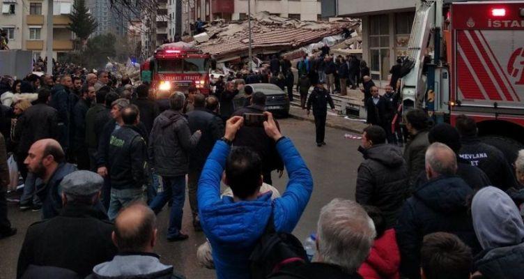 Κωνσταντινούπολη: Κατέρρευσε εξαώροφο κτίριο – Αναζητούνται εγκλωβισμένοι