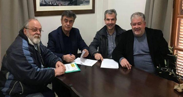 Υπεγράφη η σύμβαση για την βελτίωση του δρόμου και την αντιμετώπιση κατολίσθησης στη  Όχθια Παλαίρου