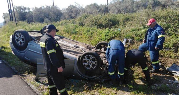 Αγρίνιο: Άγιο είχε μεσήλικας οδηγός, στηνΕθνική Οδό Αγρινίου – Ιωαννίνων