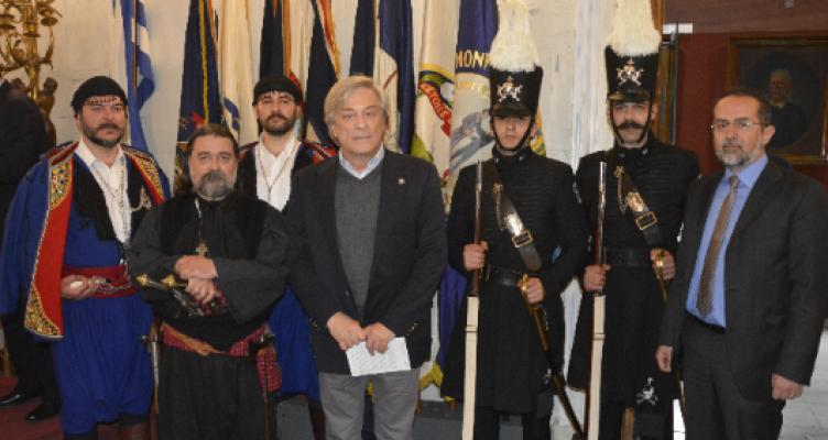 Ο Ιερός Λόχος σε εκδήλωση στην Αθήνα για τον Αμερικανικό Φιλελληνισμό τη δεκαετία του 1821