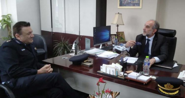 Συνάντηση Κατσιφάρα με το νέο Διοικητή των Πυροσβεστικών Υπηρεσιών Δ. Ελλάδας