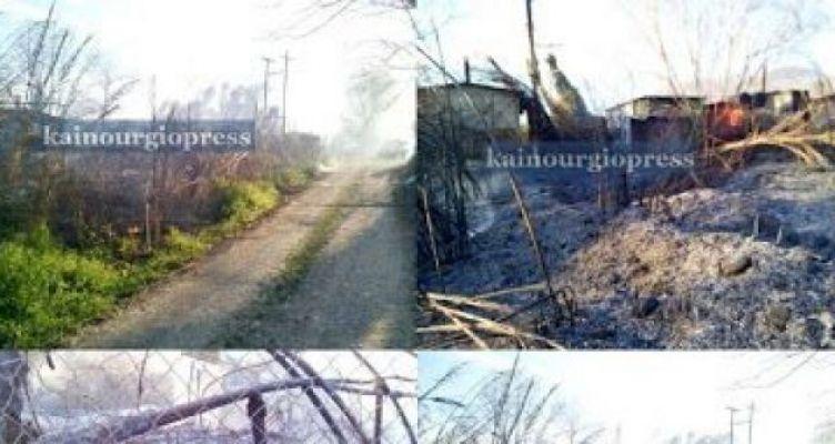 Παραβόλα: Μεγάλη κινητοποίηση της Π.Υ. για πυρκαγιά – Κάηκαν βάρκα και παλιοί φούρνοι (Φωτό)