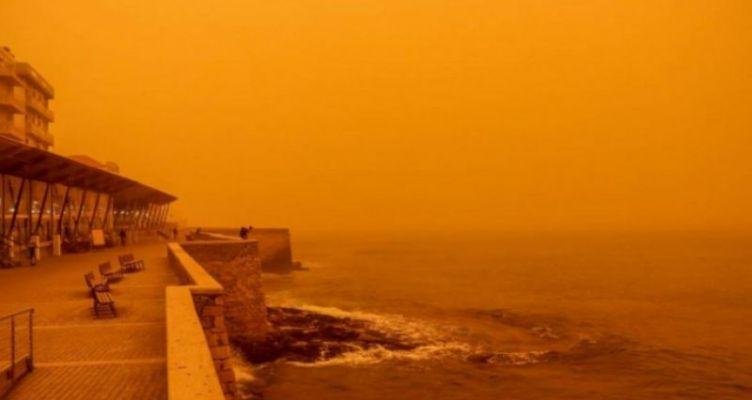 Δορυφορική εικόνα δείχνει την πορεία της αφρικανικής σκόνης στην Ελλάδα (Βίντεο)