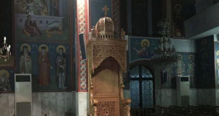 Νέος ξυλόγλυπτος Δεσποτικός Θρόνος στον Ι.Ν. Αγ. Τριάδος Παναιτωλίου