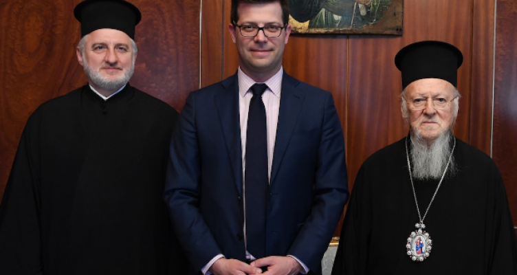 Ο Υφυπουργός Μεταναστευτικής Πολιτικής της Ελλάδος στο Οικουμενικό Πατριαρχείο