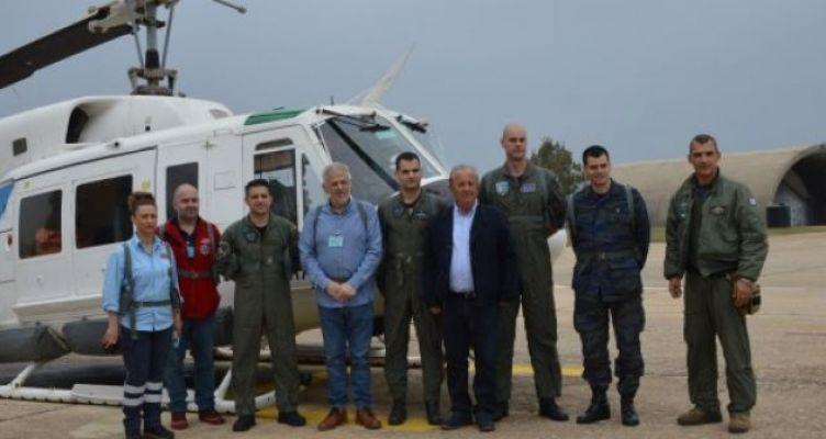Βάση του ΕΚΑΒ στο Άκτιο – Δοκιμαστική πτήση με τον πρόεδρο του ΕΚΑΒ (Φωτό)
