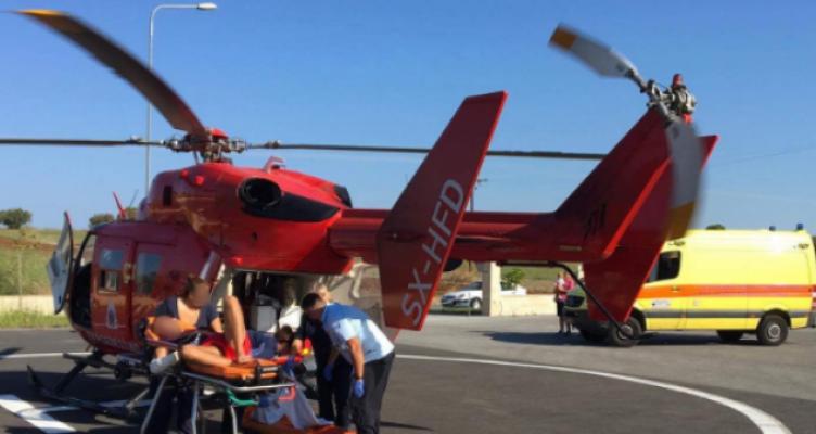 Με επιτυχία η πρώτη αεροδιακομιδή του ΕΚΑΒ από τη βάση στο Άκτιο