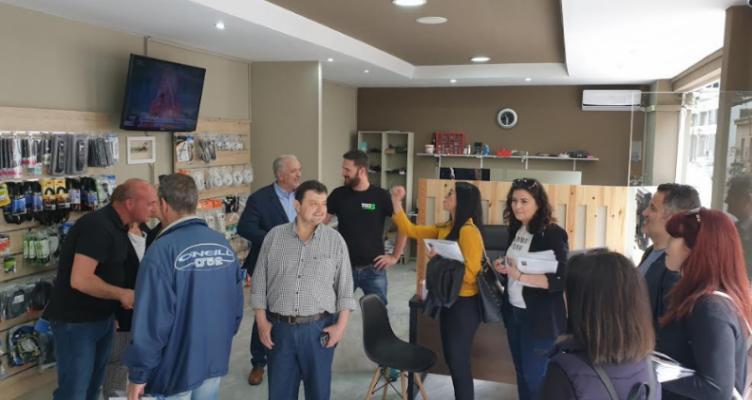 Επίσκεψη Κώστα Λύρου στα καταστήματα και το κέντρο της Ι.Π. Μεσολογγίου