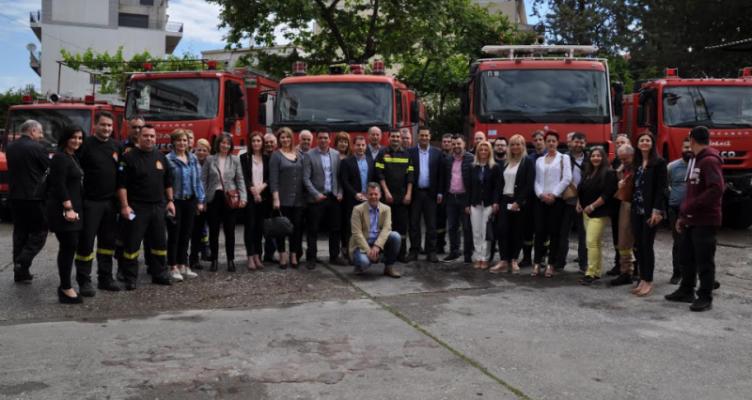 Επίσκεψη Γ. Παπαναστασίου σε Πυροσβεστική και Αστυνομία