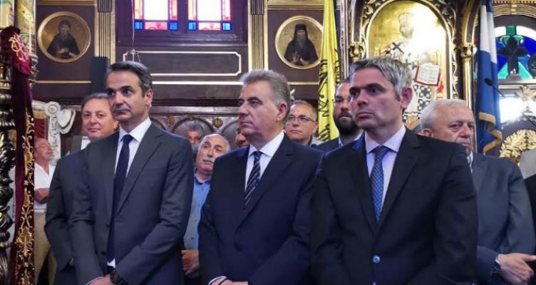 Στη Λευκάδα μαζί με τον Κυριάκο Μητσοτάκη βρέθηκε ο Κώστας Καραγκούνης