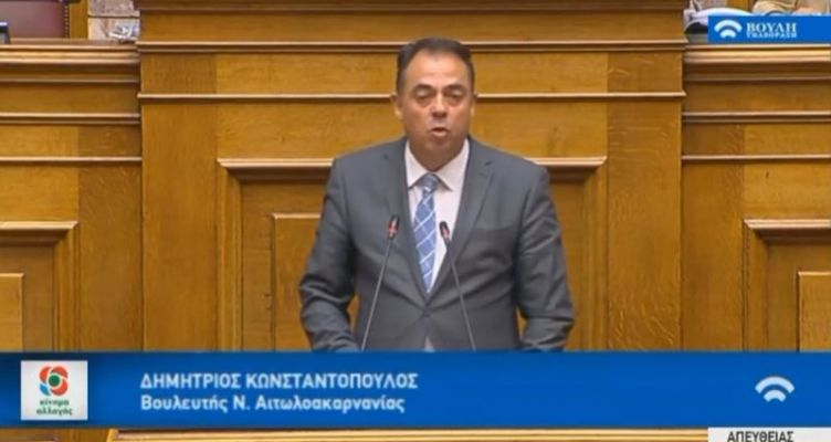 Ομιλία Δ. Κωσταντόπουλου για τις προγραμματικές δηλώσεις της Κυβέρνησης (Βίντεο)