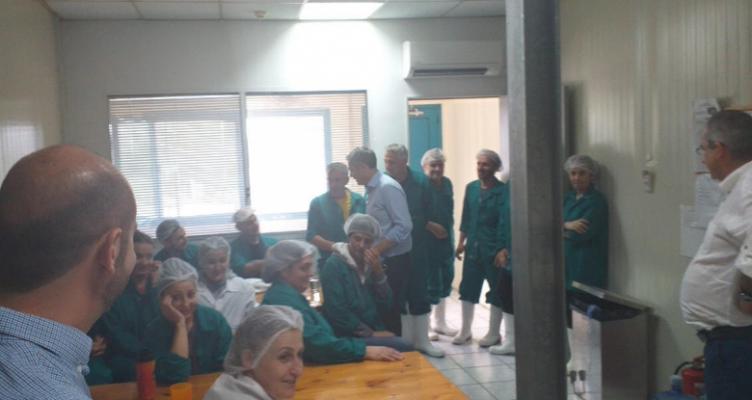 Επίσκεψη του Κώστα Καραγκούνη στην επιχείρηση Ανδρομέδα