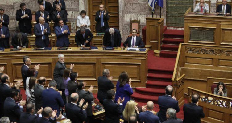 Ψήφος εμπιστοσύνης με 158 «ναι» για την κυβέρνηση Μητσοτάκη!