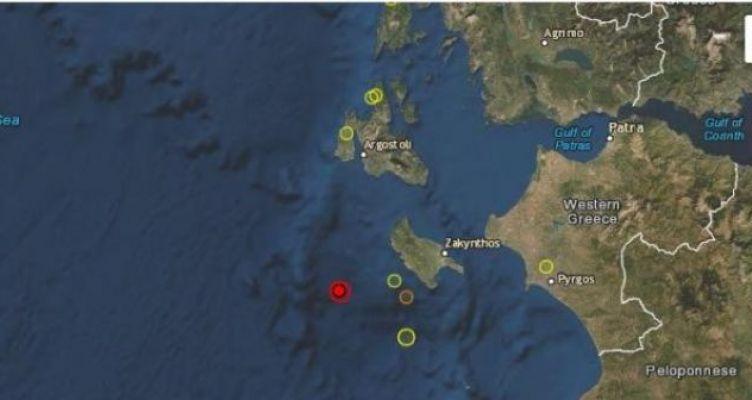 Σεισμική δόνηση 4,5 Ρίχτερ δυτικά της Ζακύνθου