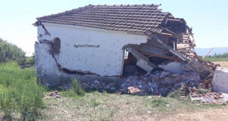 Γκρέμισαν το εκκλησάκι στην Μεγάλη Χώρα (Ζαπάντι) Αγρινίου – Αποκαλυπτικά βίντεο (Φωτό)