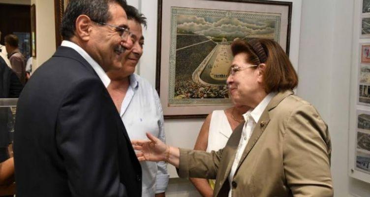 Ο Δήμαρχος Πατρέων στην έκθεση που εγκαινιάστηκε στο σπίτι του Κωστή Παλαμά