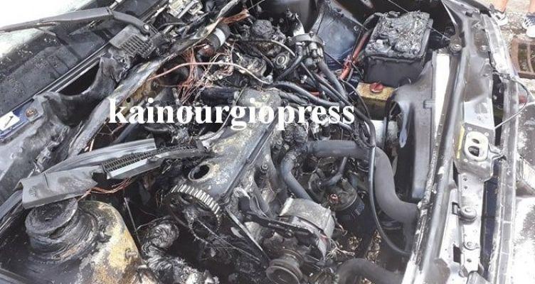 Τριχώνιο Μακρυνείας: Φωτιά εν κινήσει σε όχημα, άμεση επέμβαση του Ε.Π.Σ. Γαβαλούς
