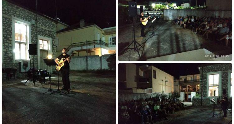 Υπέροχη μουσική βραδιά από τον Γιώργο Μπλέτσα στο Πνευματικό Κέντρο Μύτικα