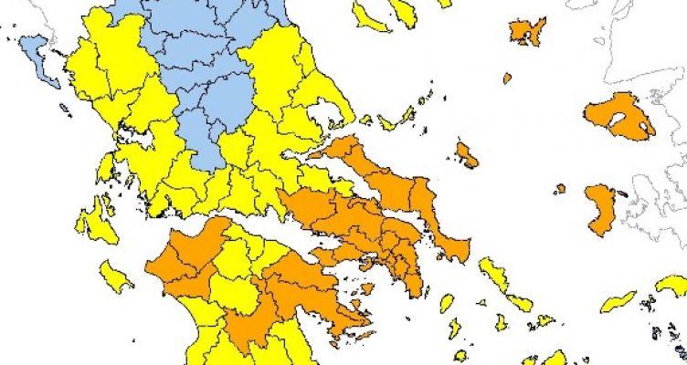 Yψηλός ο κίνδυνος πυρκαγιάς το Σάββατο σε περιοχές Αχαΐας και Ηλείας