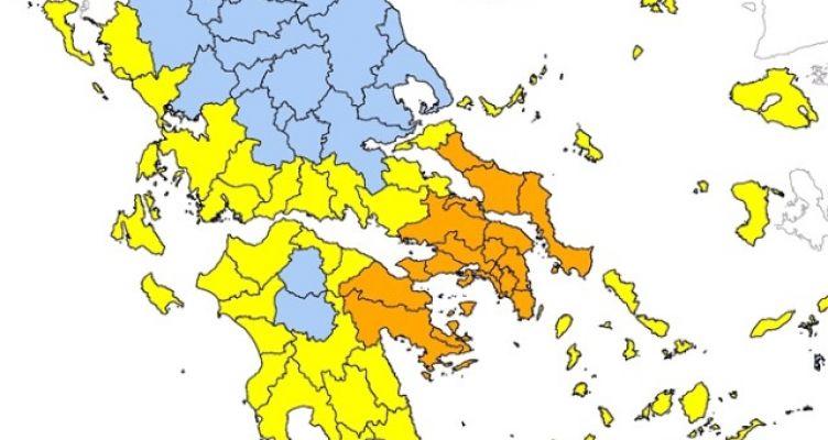 Yψηλός κίνδυνος πυρκαγιάς την Κυριακή σε όλη τη Δυτική Ελλάδα