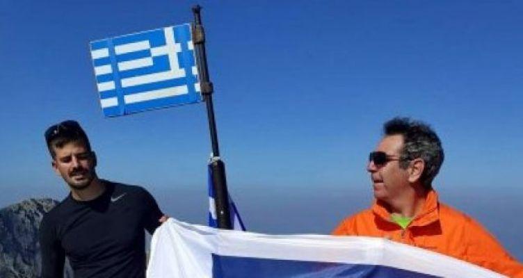 Ο Αντιρριώτης Κώστας Σωτηρόπουλος στην κορυφή του Ολύμπου!