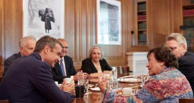 Συνάντηση του Κυριάκου Μητσοτάκη με την Nita Lowey
