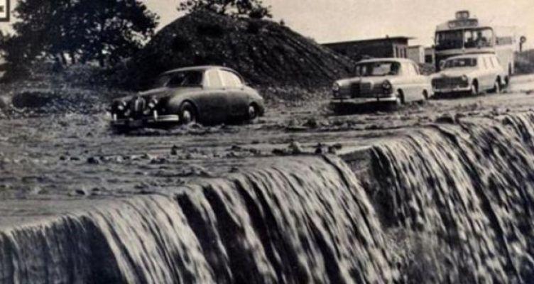 Η Πατρών – Κορίνθου… πλημμυρισμένη! Φωτογραφικό ντοκουμέντο του 1966