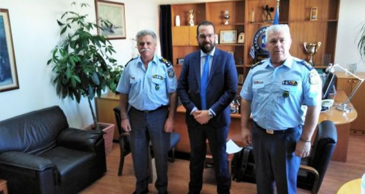 Επίσκεψη Ν. Φαρμάκη στη Περ. Αστυνομική Διεύθυνση Δ. Ελλάδας και στην Διεύθυνση Αστυνομίας Αχαΐας