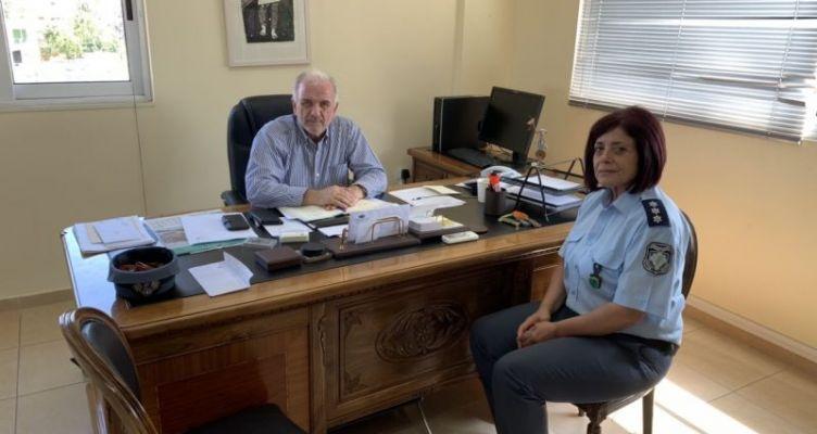 Συνάντηση Κώστα Λύρου με το Λιμενάρχη και την Διοικητή Τροχαίας Μεσολογγίου