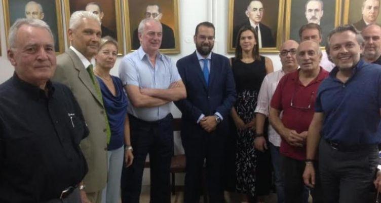 O Νεκτάριος Φαρμάκης στα γραφεία του ΣΕΒ Π&ΔΕ
