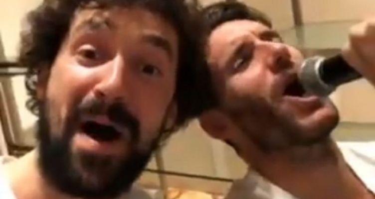 Γιουλ και Ρούντι… μεράκλωσαν και τραγούδησαν μετά το χρυσό (Βίντεο)