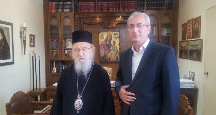 Συνάντηση του Δημάρχου Θέρμου με τον Μητροπολίτη Αιτωλίας-Ακαρνανίας κ.κ. Κοσμά