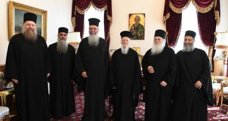 Προσκυνηματική επίσκεψη του Καθηγουμένου της Μονής Βατοπαιδίου και Αγιορειτών πατέρων